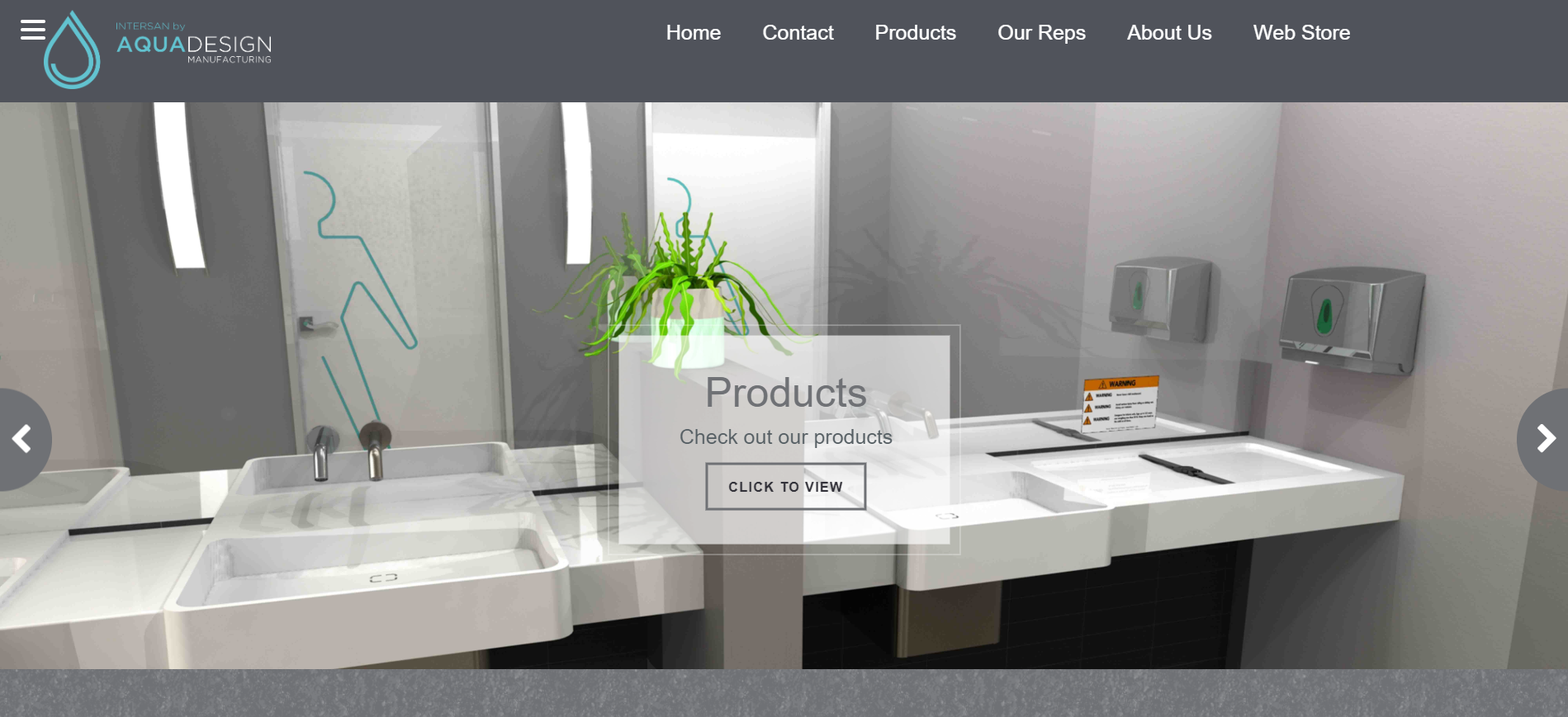 The intersan website for manufacturing sinks