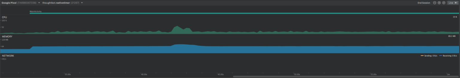 A native app uses much less memory and CPU than a cross-platform app