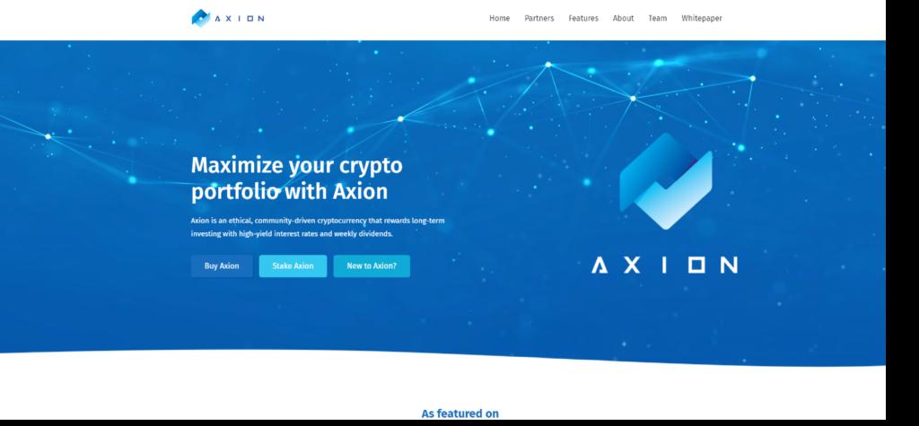 Axion website
