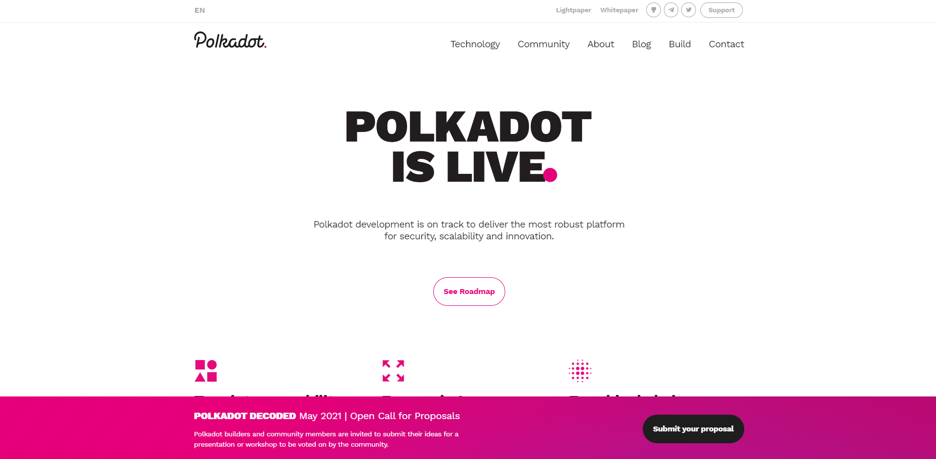 Polkadot crypto website