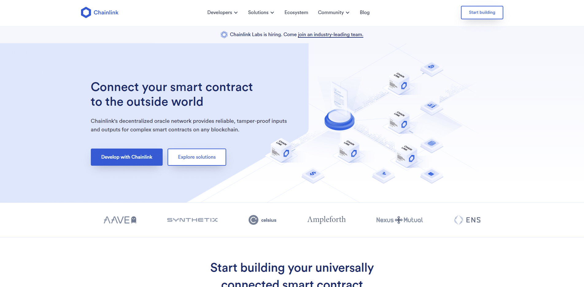 Chainlink crypto website