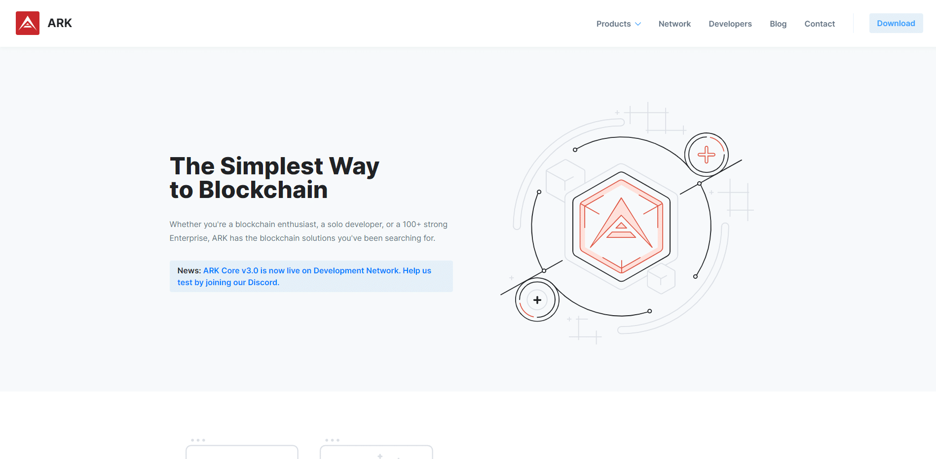 ARK Crypto website