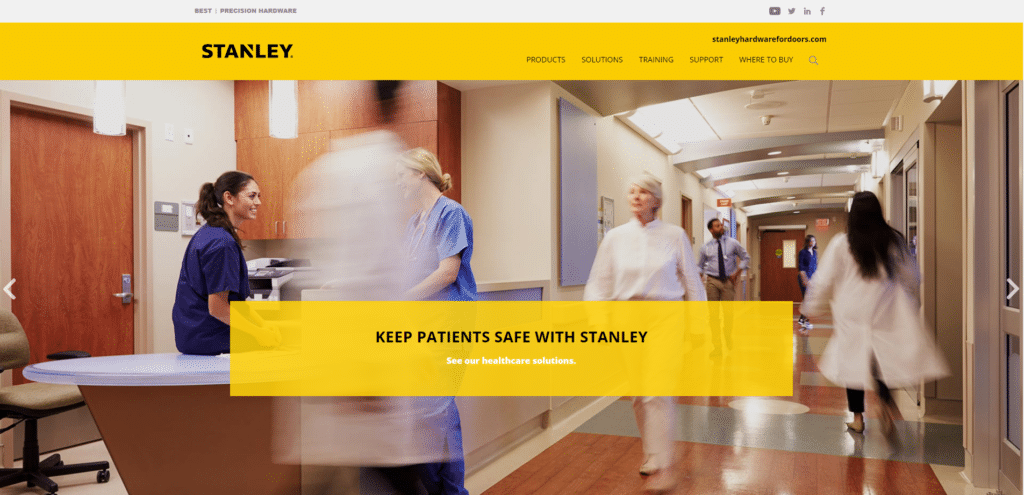 Stanley Hardware website