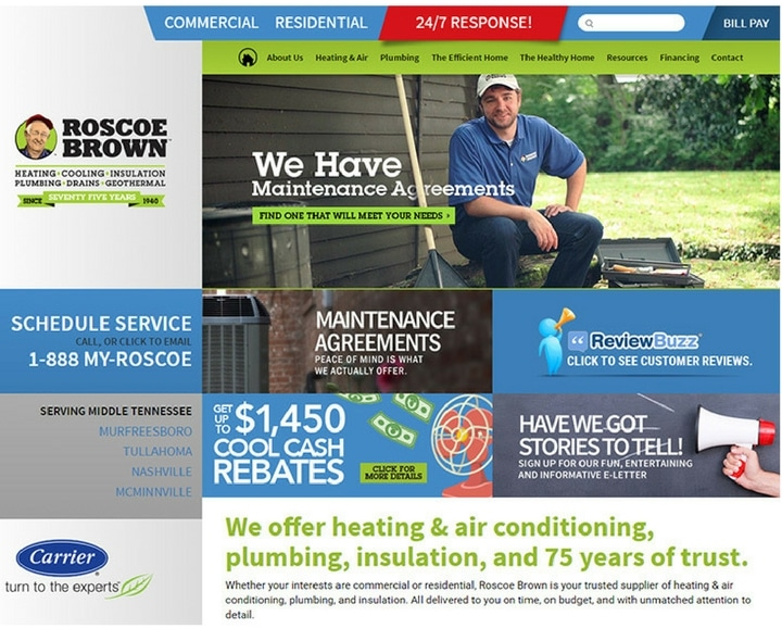 Roscoe Brown bad plumbing website