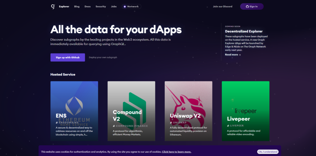 dApps page