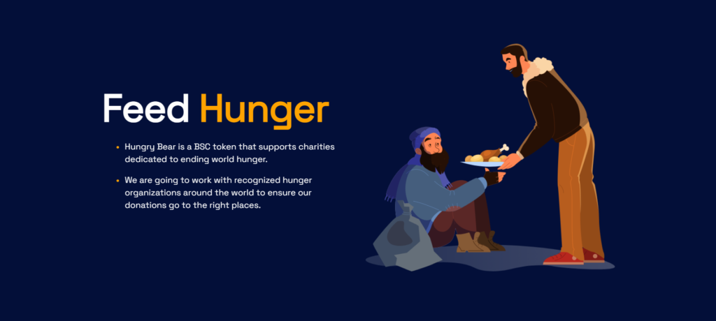 Hungry bear charity token mission